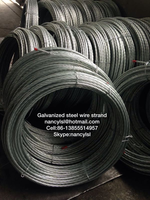 ACSR Conductor Galvanized Steel Wire Cable Strand With High Tensile Strength