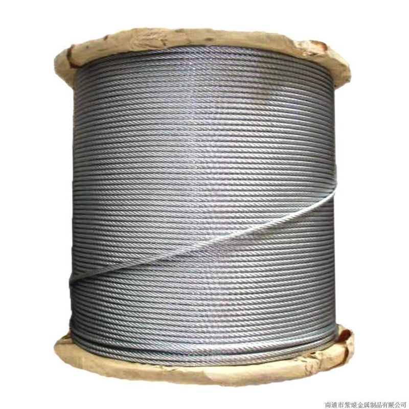 7 / 2.64mm Galvanized Guy Wire 5 16 Inch , High Strength Steel Cable 1000-1750 MPA