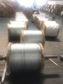 High Tensile Strength Zinc Coated Steel Wire Strand 7/3.05mm 7/3.45mm , ISO 9001-2008 Certificate